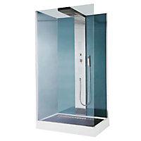 Cabine de douche hydromassante Cooke & Lewis Welle 120 x 80 cm