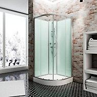 Cabine de douche intégrale arrondie, Ibiza Schulte, 90 x 90 cm