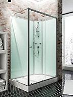 Cabine de douche intégrale, Ibiza Schulte, 90 x 120 cm, ouverture droite