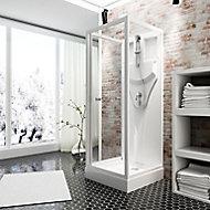 Cabine de douche intégrale, Juist Schulte 80 x 80 cm, ouverture vers l'intérieur