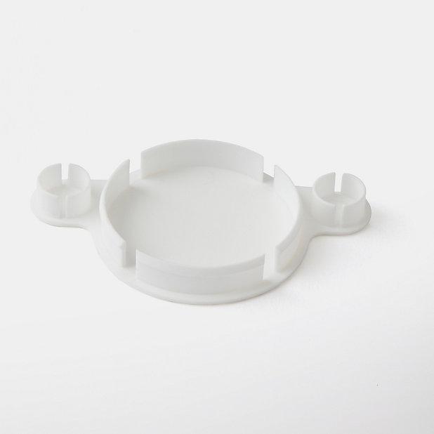Cache Trou De Charniere En Plastique Goodhome Blanc O35 Mm 4 Pieces Castorama