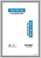 Cadre photo aluminium argent brillant Accent 10 x 15 cm