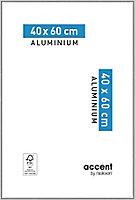 Cadre photo aluminium argent brillant Accent 40 x 60 cm