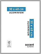 Cadre photo aluminium argent mat Accent 30 x 40 cm