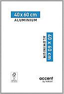 Cadre photo aluminium argent mat Accent 40 x 60 cm