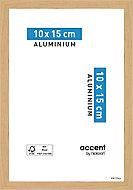 Cadre photo aluminium chêne Accent 10 x 15 cm