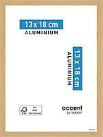 Cadre photo aluminium chêne Accent 13 x 18 cm