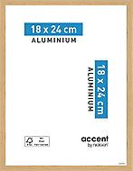 Cadre photo aluminium chêne Accent 18 x 24 cm