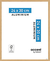 Cadre photo aluminium chêne Accent 24 x 30 cm