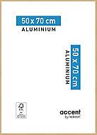 Cadre photo aluminium chêne Accent 50 x 70 cm