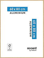 Cadre photo aluminium chêne Accent 60 x 80 cm