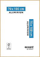 Cadre photo aluminium chêne Accent 70 x 100 cm