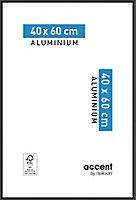 Cadre photo aluminium noir Accent 40 x 60 cm