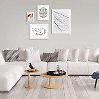 Cadre photo blanc Colours Tusa 21 x 29 cm, ép.25 mm