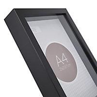 Cadre vitrine vide noir 21 x 29,7 cm