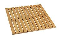 Caillebotis de douche en bambou 50 x 50 cm