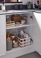 Caisson bas de cuisine GoodHome Caraway Blanc H. 72 cm x l. 60 cm