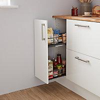 Caisson bas de cuisine GoodHome Caraway Blanc H. 87 cm x l. 30 cm