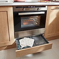 Caisson bas de cuisine pour four GoodHome Caraway Blanc H. 72 cm x l. 60 cm