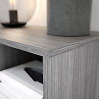 Caisson effet chêne grisé GoodHome Atomia H. 225 x L. 75 x P. 45 cm