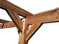 Carport bois 5 x 3 x 2,36 m