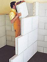 Carreau béton cellulaire Siporex à emboiter 50cm ép.100mm (vendu au carreau)