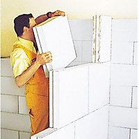 Carreau béton cellulaire Siporex à emboiter 50cm ép.70mm (vendu au carreau)
