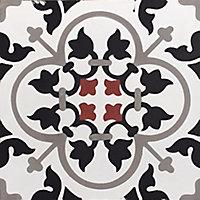 Carreaux de ciment 20x20cm motif floral