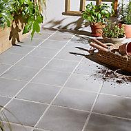 Carrelage extérieur Aged stone gris 20 x 20 cm