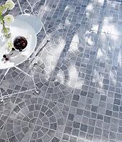 Carrelage extérieur Blocce rosace mix gris 30 x 30 cm