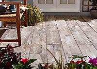Carrelage extérieur Broown marron 20 x 120 cm