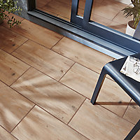 Carrelage extérieur Norwegio marron clair 30 x 60 cm