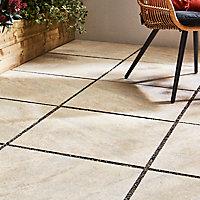 Carrelage extérieur Quartzite gris 60 x 60 cm