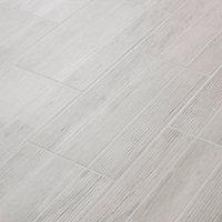 Carrelage extérieur Stripe wood blanc 30 x 60 cm