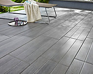 Carrelage extérieur Stripe wood gris 30 x 60 cm