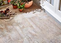 Carrelage extérieur Volfy beige 30 x 60 cm