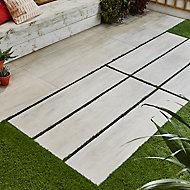 Carrelage extérieur Wood blanc vieilli 30 x 120 cm