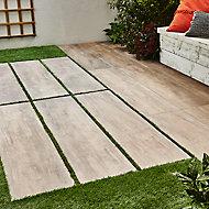 Carrelage extérieur Wood naturel 30 x 120 cm