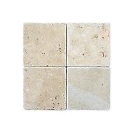 Carrelage mur beige effet marbre 20 x 20 cm Travertin pierre naturelle