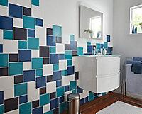 Carrelage mur blanc 15 x 15 cm Glossy