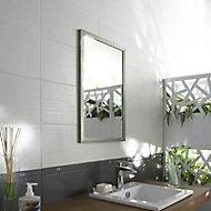 Carrelage mur blanc 20 x 40 cm Moire
