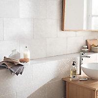Carrelage mur blanc 25 x 40 cm Cenento