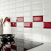 Carrelage mur blanc 7,5 x 15 cm HD2I Métro (vendu au carton)