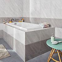 Carrelage mur blanc effet pierre 25 x 40 cm Secchia