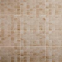 Carrelage mur décor beige 40 x 25 cm Travertina