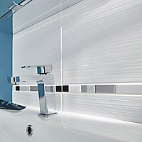 Carrelage mur décor blanc 25 x 40 cm Salerna