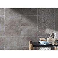 Carrelage mur décor mosaique taupe 20 x 40 cm Cemento