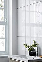 Carrelage mur décor vague blanc 30 x 60 cm Perouso