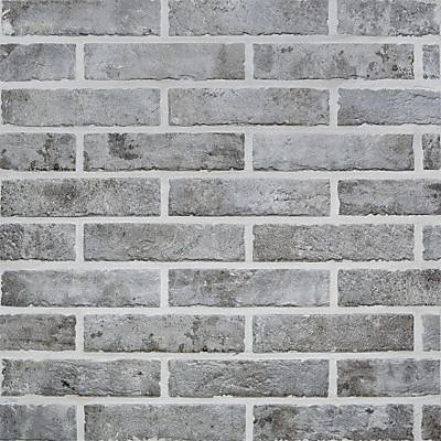 Carrelage Mur Gris Effet Brique 6 X 25 Cm Brixton Castorama