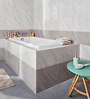 Carrelage mur gris effet pierre 25 x 40 cm Secchia
